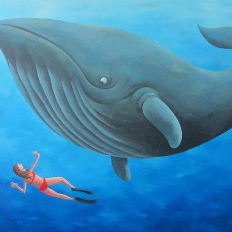 balena ACRILIC SOBRE TELA